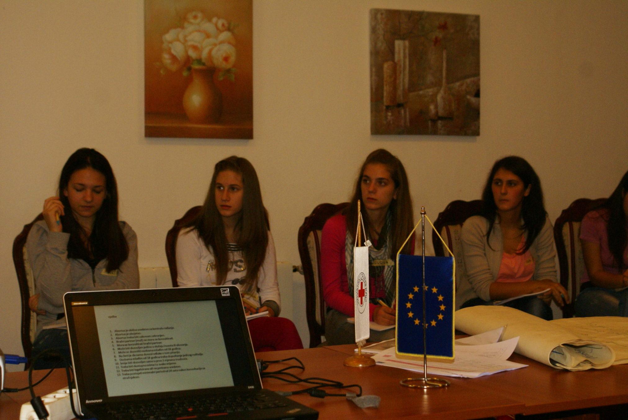 Naše učenice na seminaru u Kninu